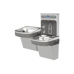 Elkay® LZSTL8WSLK EZH2O® Filtered Bottle Filling Station and Bi-Level Cooler, 1.1 gpm, Push Bar/Sensor Operation, Refrigerated Chilling, Domestic