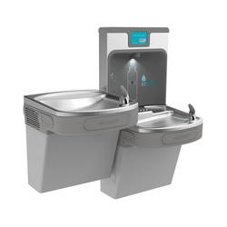 Elkay® LZSTL8WSLP EZH2O® Filtered Bottle Filling Station and Bi-Level Cooler, 1.1 gpm, Push Bar/Sensor Operation, Refrigerated Chilling, 2 Stations, Domestic