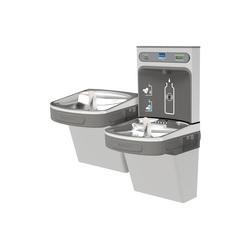 Elkay® LZSTL8WSSK EZH2O® Filtered Bottle Filling Station and Bi-Level Cooler, 1.1 gpm, Push Bar/Sensor Operation, Refrigerated Chilling, 2 Stations, Domestic