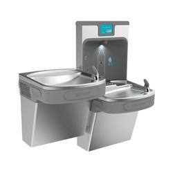 Elkay® LZSTL8WSSP EZH2O® Filtered Bottle Filling Station and Bi-Level Cooler, 1.1 gpm, Push Bar/Sensor Operation, Refrigerated Chilling, 2 Stations, Domestic
