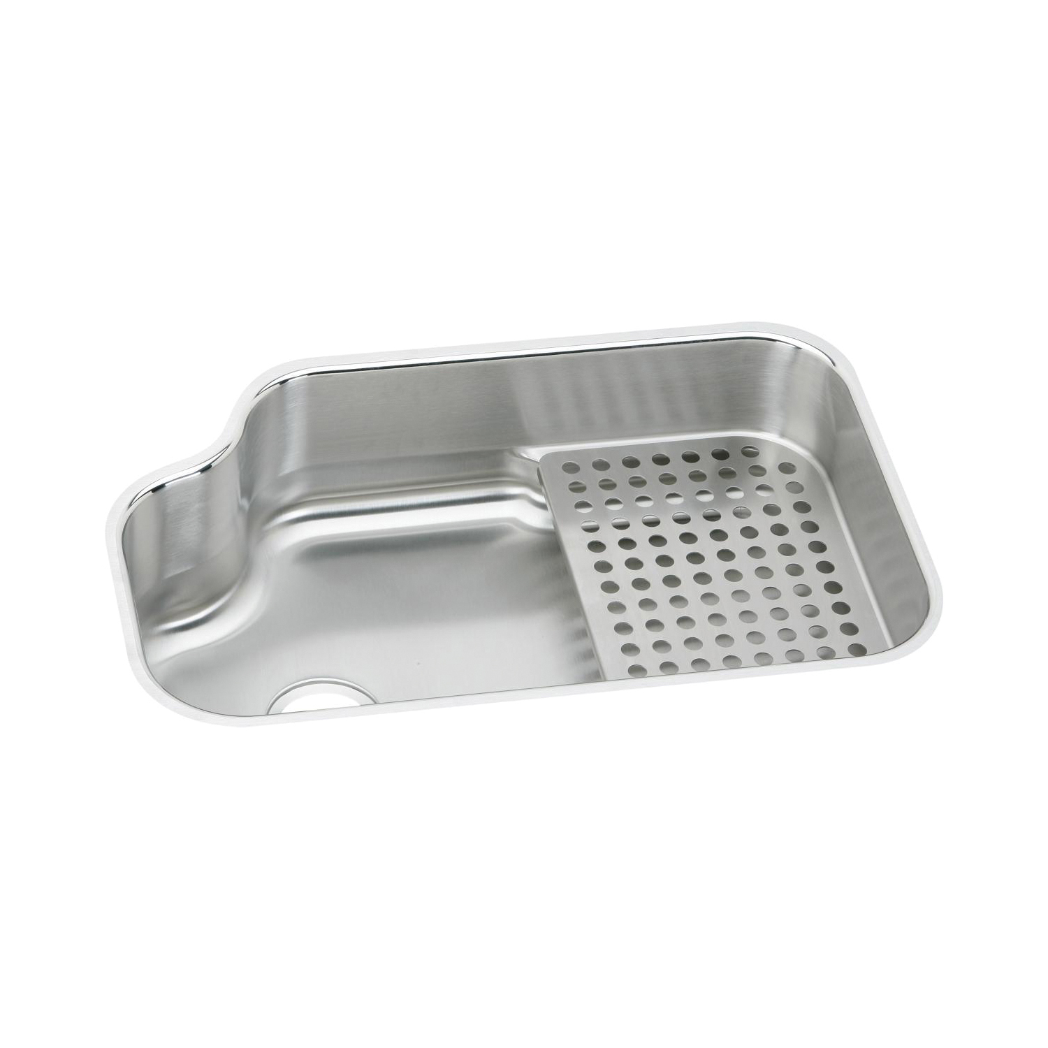 Elkay® MYSTIC3021BG The Mystic® Kitchen Sink Kit, 21 in W x 8 in D x 32 in H, Under Mount, Stainless Steel, Lustertone, Domestic