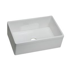 Elkay® SWUF28179WH Apron Front Sink, Rectangular, 29-7/8 in W x 19-3/4 in D x 10-1/16 in H, Apron Front Mount, Fireclay, White, Import