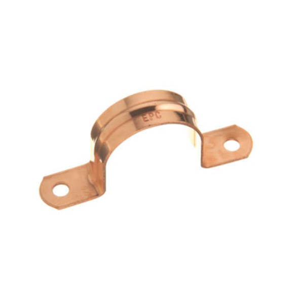 EPC 10032420 Double Hole Solder Tube Strap, 3/4 in Tube, Copper, Domestic