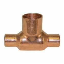 EPC 10032704 111-BH Solder Bullhead Tee, 1/2 x 1/2 x 3/4 in, C x C x C, Copper, Domestic