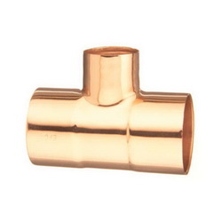 EPC 10033064 111-R Solder Reducing Tee, 2-1/2 x 1-1/2 x 2 in, C x C x C, Wrought Copper, Domestic