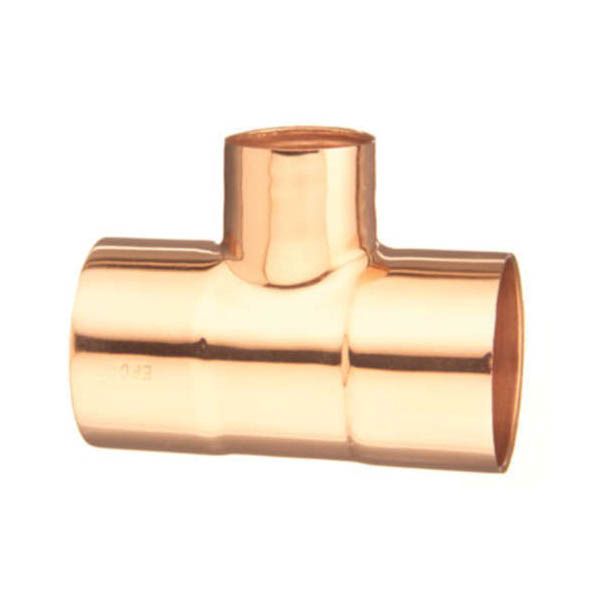 EPC 10033280 111-R Solder Reducing Tee, 4 x 3 x 4 in, C x C x C, Wrought Copper, Domestic