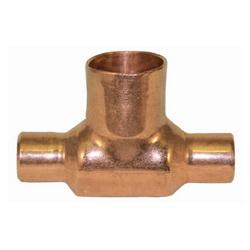 EPC 10032870 111-BH Solder Bullhead Tee, 1-1/4 x 1-1/4 x 1-1/2 in, C x C x C, Wrought Copper, Domestic