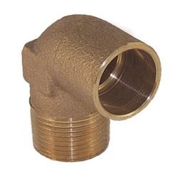EPC 10035370 4707-4 Solder Pipe 90 deg Elbow, 3/4 in, C x Male, Brass, Domestic