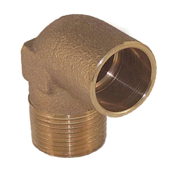 EPC 10035365 4707-4 Solder Pipe 90 deg Elbow, 1/2 in, C x Male, Brass, Domestic