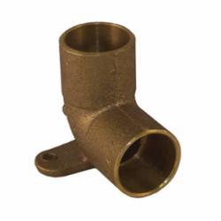 EPC 10035424 4707-5 Solder Drop-Ear 90 deg Elbow, 1/2 in, C x C, Brass