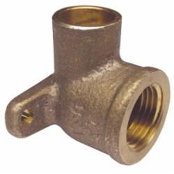 EPC 10035447 4707-3-5 Solder Drop-Ear 90 deg Elbow, 1 in, C x Female, Brass, Domestic