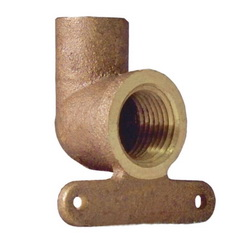 EPC 10035466 4707-5-3 Solder Female High-Ear 90 deg Elbow, 3/4 in, C x Female, Brass