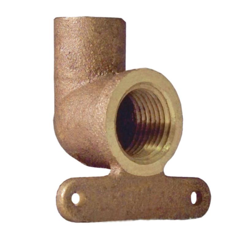 EPC 10035466 4707-5-3 Solder Female High-Ear 90 deg Elbow, 3/4 in, C x Female, Brass