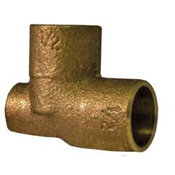 EPC 10037855 4714-B Baseboard Tee, 3/4 x 1/8 x 3/4 in, C x FNPT x C, Brass, Domestic