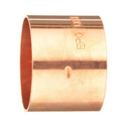 EPC 10046230 301 Solder DWV End Coupling, 1-1/4 in, C x C, Wrot Copper, Domestic