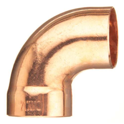 EPC 10046456 307-2 Solder DWV Street 90 deg Elbow, 3 in, C x Fitting, Copper, Domestic