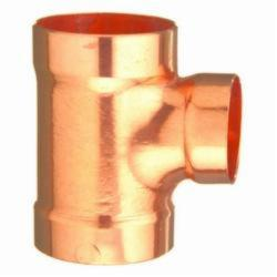 EPC 10046576 311-R Solder 90 deg DWV Reducing Sanitary Tee, 2 x 1-1/2 x 2 in, C x C x C, Wrought Copper, Domestic