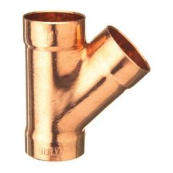 EPC 10046644 310-R Solder DWV 45 deg Reducing Wye, 3 x 3 x 2 in, C x C x C, Copper, Domestic