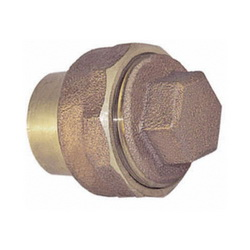 EPC 10047746 5816 Solder DWV Fitting Cleanout With Plug, 2 x 1-1/2 in, Fitting x Cleanout, Cast Brass