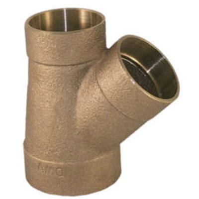 EPC 10050762 Solder DWV 45 deg Wye, 1-1/2 in, C x C x C, Brass