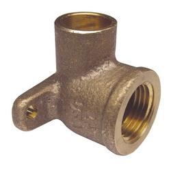 EPC 10056856 4707-3-5 Solder Drop-Ear 90 deg Elbow, 1/2 in, C x FNPT, Brass, Domestic