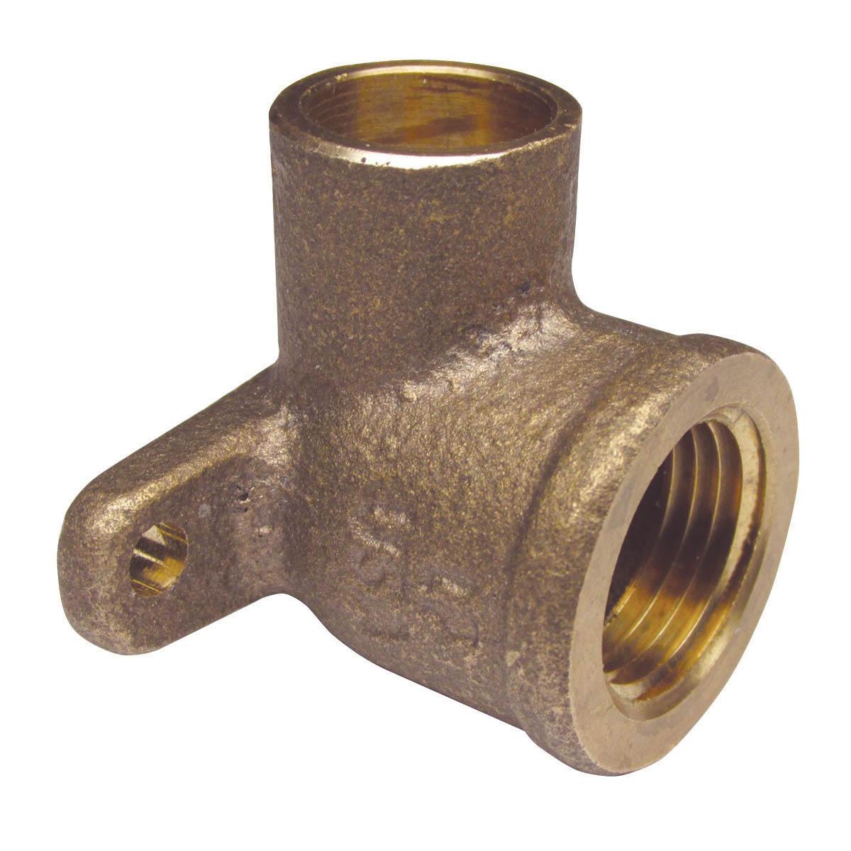 EPC 10056862 4707-3-5 Solder Drop-Ear 90 deg Elbow, 1 in, C x FNPT, Brass, Domestic