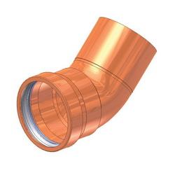 EPC ApolloPRESS® 10062047 806-2 Large Diameter Press Street 45 deg Elbow, 4 in, Fitting x C, Copper, Domestic