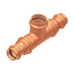 EPC ApolloPRESS® 10066008 811BH Press Bullhead Tee, 1 x 1 x 1-1/4 in, C, Copper, Domestic