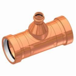 EPC APOLLOXPRESS® 10068048 811-R Reducing Outlet Tee, 2-1/2 x 2-1/2 x 1 in, C x C x C, Copper, Domestic