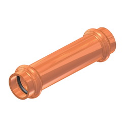 EPC ApolloPRESS® 10075032 801 Press Extended Length Coupling, 3/4 in, C, Copper, Domestic