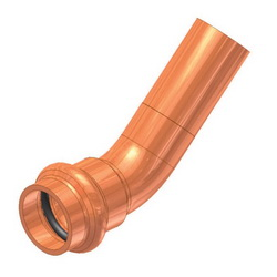 EPC APOLLOXPRESS® 10075054 806-2 Small Diameter Press Street 45 deg Elbow, 2-1/2 in, Fitting x C, Copper, Domestic