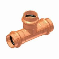 EPC APOLLOXPRESS® 10075096 811 Small Diameter Press Tube Tee, 1-1/4 in, C x C x C, Copper, Domestic