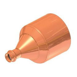 EPC APOLLOXPRESS® 10068020 818 Large-Small Diameter Press Fitting Reducer, 3 x 1-1/2 in, Fitting x C, Copper, Domestic