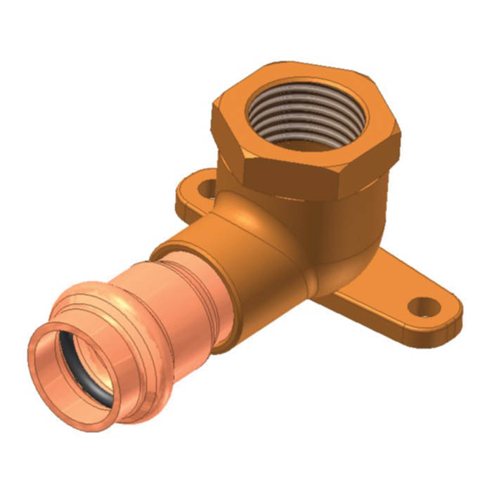 EPC APOLLOXPRESS® 10075366 8707-3-5 Small Diameter Press 90 deg Drop-Ear Elbow, 1/2 in, C x FNPT