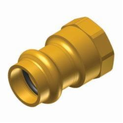 EPC APOLLOXPRESS® 10075756 803 Small Diameter Press Female Adapter, 1-1/4 in, C x FNPT, Brass, Domestic