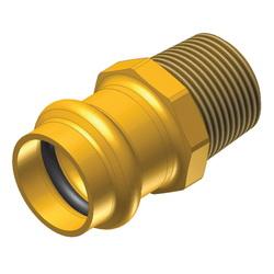 EPC ApolloPRESS® 10075840 804R Press Male Reducing Adapter, 3/4 x 1/2 in, C x M, Brass, Domestic