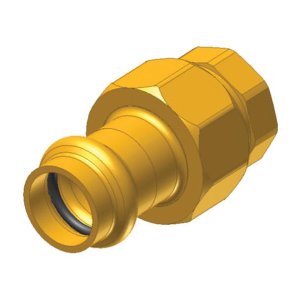 EPC ApolloPRESS® 10075882 8733-3 Press Female Union, 2 in, C x F, Brass, Domestic
