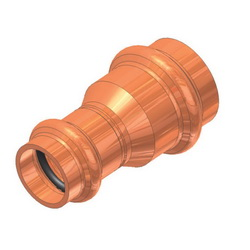 EPC APOLLOXPRESS® 10075898 801R Small Diameter Press Reducing Coupling, 1 x 3/4 in, C, Copper, Domestic