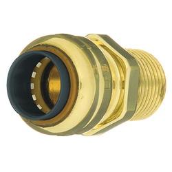 EPC TECTITE™ 10155472 204 Push Pipe Adapter, 1 in, C x M, Brass, Domestic