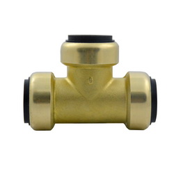 EPC TECTITE™ 10188107 211 Push Tee, 1-1/4 in, C x C x C, Brass, Domestic
