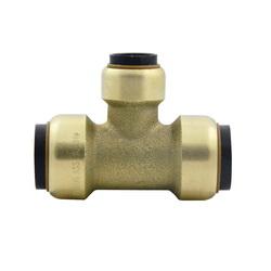 EPC TECTITE™ 10155492 211R Push Reducer Tee, 3/4 x 1/2 x 3/4 in, C x C x C, Brass