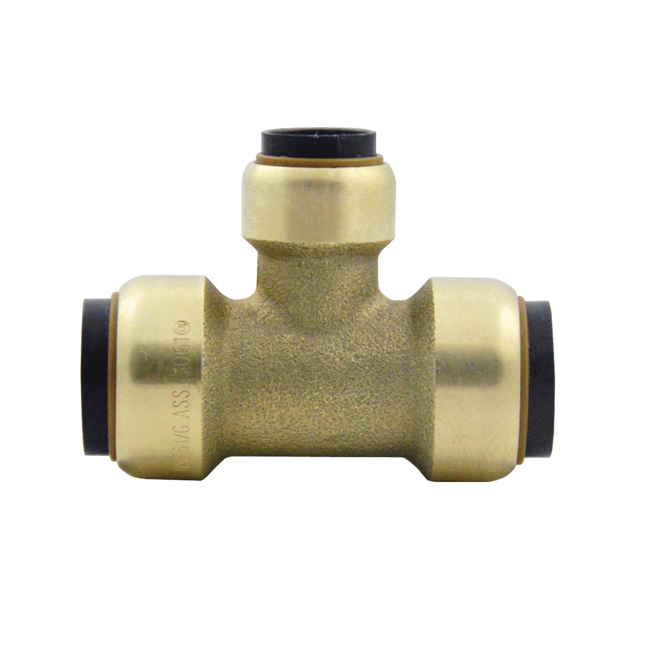 EPC TECTITE™ 10155490 211R Push Reducer Tee, 3/4 x 1/2 x 1/2 in, C x C x C, Brass