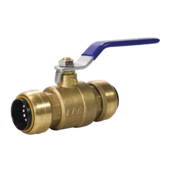 EPC Tectite™ 10155521 210 Push Ball Valve, 1/2 in, C x C, Brass Body