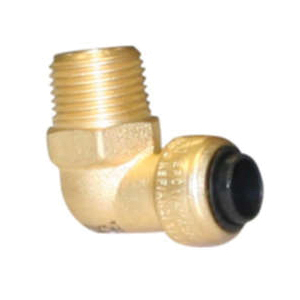 EPC TECTITE™ 10177351 207-4 Male Push 90 deg Elbow, 1/2 in, C x Male, Brass