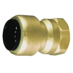 EPC TECTITE™ 10177358 203R Push Female Reducing Adapter, 1/2 x 3/4 in, C x Female, Brass