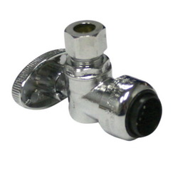 EPC TECTITE™ 10177506 228-9 Push Angle Stop, 1/2 x 3/8 in, C x Compression, Brass Body