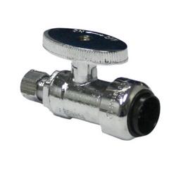 EPC TECTITE™ 10177515 229-9 Push Angle Stop, 1/2 x 3/8 in, C x Compression, Brass Body