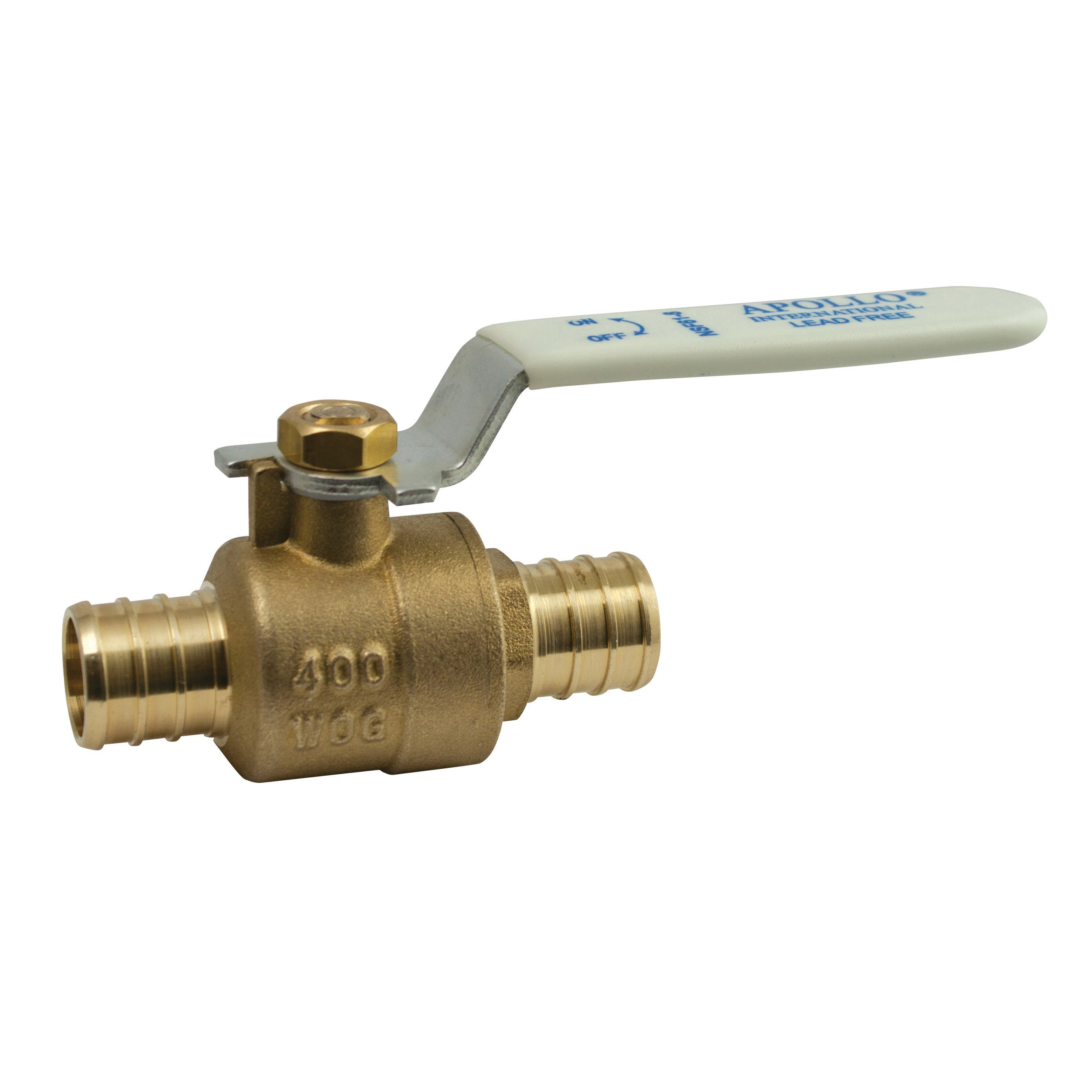 EPC Apollo® 94XLF10501 Ball Valve, 1 in, PEX Barb, Brass Body