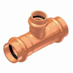 EPC APOLLOXPRESS® 10075106 811-R Reducing Outlet Tee, 1-1/4 x 1-1/4 x 1/2 in, C, Copper