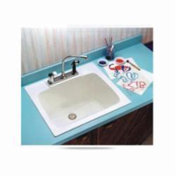 ELM® 10 Utility Sink, 25 in W x 13-3/4 in D x 22 in H, Durastone®, Semi-Gloss White